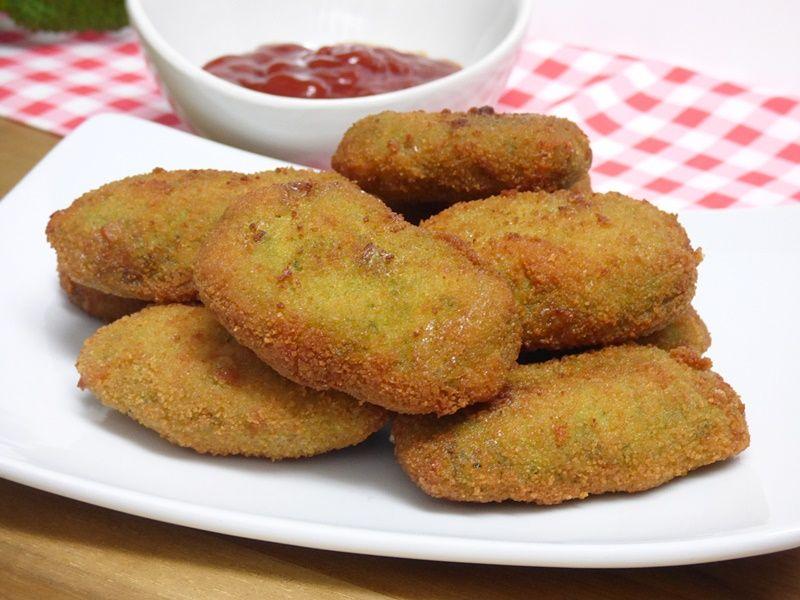 Nuggets de pollo y espinacas