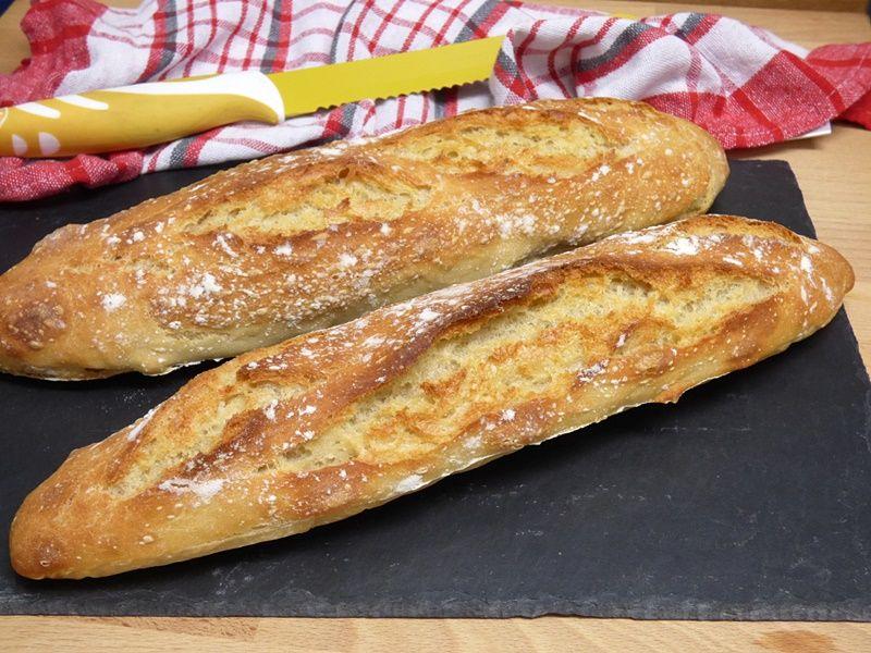 Barritas de pan sin amasado